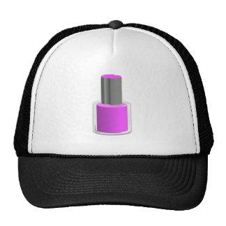 Esmalte de uñas púrpura gorros bordados