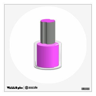 Esmalte de uñas púrpura vinilo adhesivo