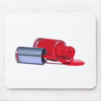 Esmalte de uñas rojo alfombrilla de raton
