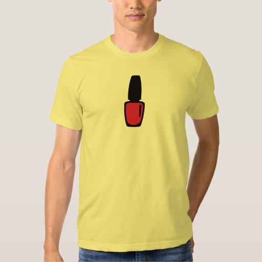 Esmalte de uñas rojo camisas