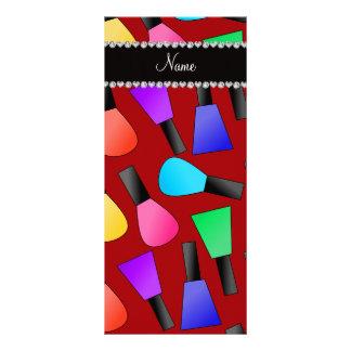 Esmalte de uñas rojo conocido personalizado del folleto publicitario 10 x 22,8 cm
