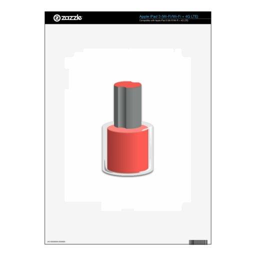 Esmalte de uñas rojo iPad 3 pegatinas skins
