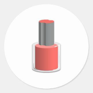 Esmalte de uñas rojo pegatina redonda