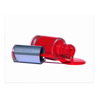 Esmalte de uñas rojo tarjetas postales