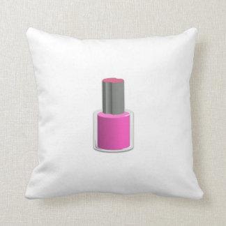 Esmalte de uñas rosado cojines