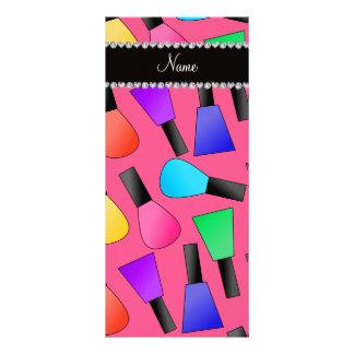 Esmalte de uñas rosado conocido personalizado del tarjeta publicitaria personalizada