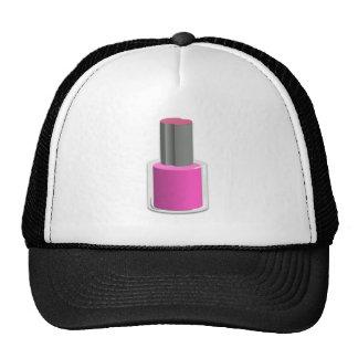 Esmalte de uñas rosado gorro