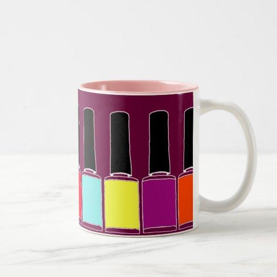 Esmalte de uñas taza de café de dos colores