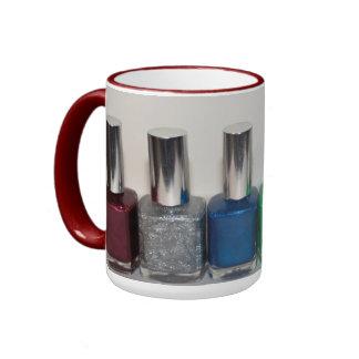 Esmalte de uñas taza de dos colores
