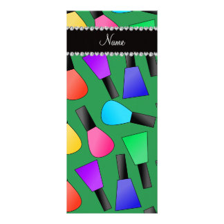 Esmalte de uñas verde conocido personalizado del lona