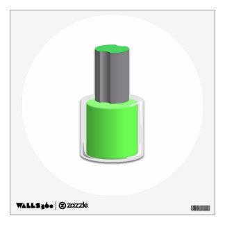 Esmalte de uñas verde vinilo
