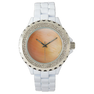 Esmalte del blanco del diamante artificial de la reloj de mano