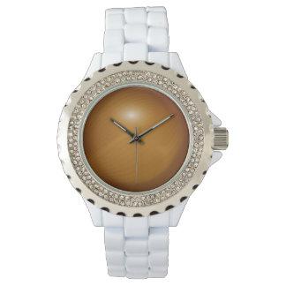 Esmalte del blanco del diamante artificial de la relojes de mano