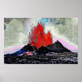 Esmalte del volcán 7 poster