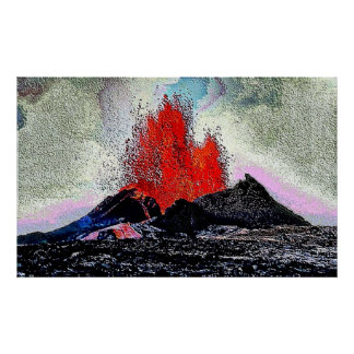 Esmalte del volcán 7 póster