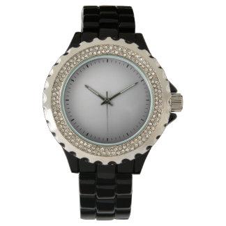 Esmalte negro relojes de pulsera