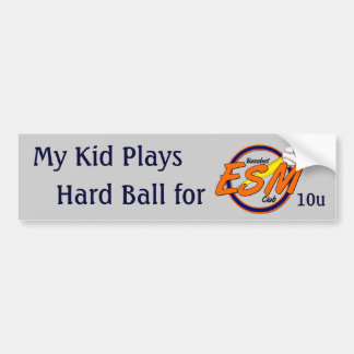 ESMBC Hard Ball Car Bumper Sticker