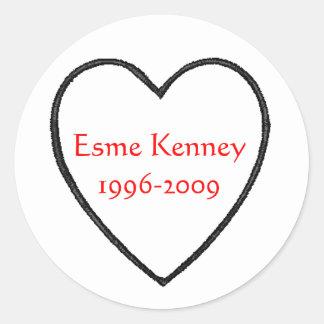 Esme Heart Classic Round Sticker