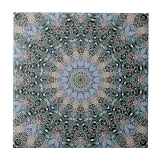 Esme Joy Kaleidoscope Ceramic Tile, 2 Sizes Small Square Tile
