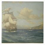 Esmeralda, 1908 (aceite en lona) azulejo cuadrado grande