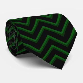 Esmeralda adaptable/verde de Chevron Corbata Personalizada
