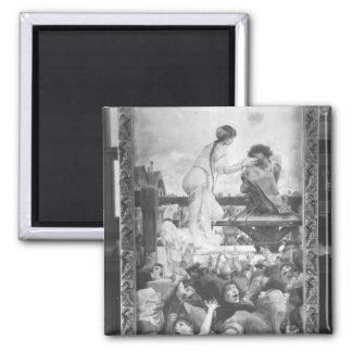 Esmeralda and Quasimodo, 1905 2 Inch Square Magnet