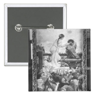 Esmeralda and Quasimodo, 1905 Pinback Button