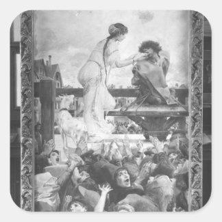 Esmeralda and Quasimodo, 1905 Square Sticker
