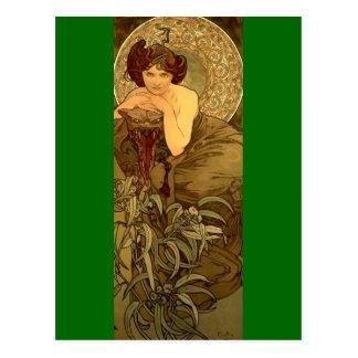 Esmeralda - arte Nouveau Tarjetas Postales