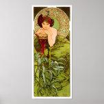 Esmeralda de Alfonso Mucha - impresión del poster