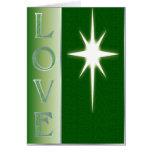 Esmeralda de la tarjeta de Navidad del amor