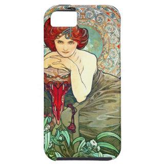 Esmeralda de Mucha iPhone 5 Carcasa