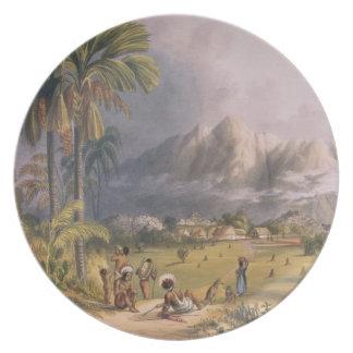 Esmeralda, en el Orinoco, sitio de un Missi españo Plato De Comida