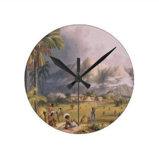 Esmeralda, en el Orinoco, sitio de un Missi españo Reloj Redondo Mediano