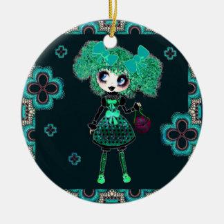 Esmeralda gótica y negro del niño de Lolita Adorno Redondo De Cerámica