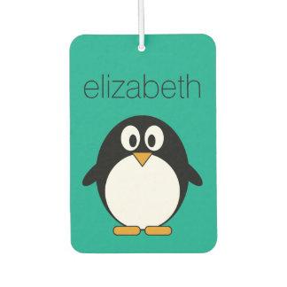esmeralda linda y negro del pingüino del dibujo