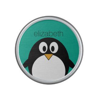 esmeralda linda y negro del pingüino del dibujo altavoz