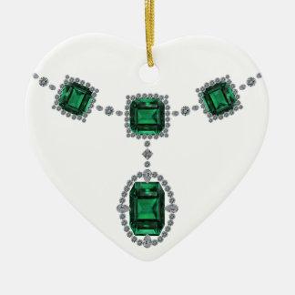 Esmeraldas de Comstock Adorno Navideño De Cerámica En Forma De Corazón