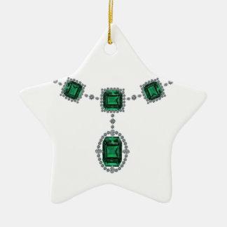 Esmeraldas de Comstock Adorno Navideño De Cerámica En Forma De Estrella