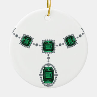 Esmeraldas de Comstock Adorno Navideño Redondo De Cerámica