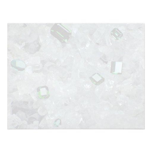Esmeraldas en cristales plantilla de membrete