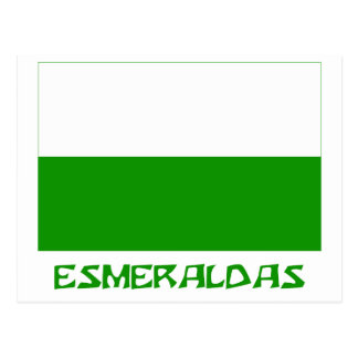 Esmeraldas flag with Name Postcard