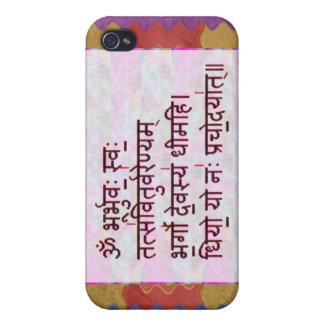 Esmero al mantra de GAYATRI - fondo artístico iPhone 4/4S Fundas
