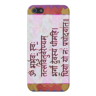 Esmero al mantra de GAYATRI - fondo artístico iPhone 5 Protector