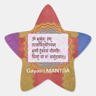 Esmero al mantra de GAYATRI - fondo artístico Calcomania Forma De Estrella