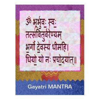 Esmero al mantra de GAYATRI - fondo artístico Postal