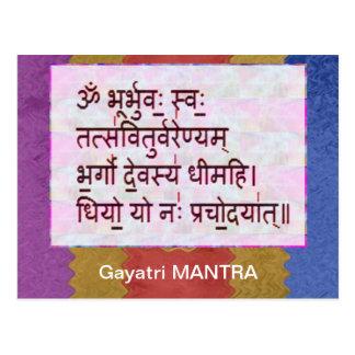 Esmero al mantra de GAYATRI - fondo artístico Postales