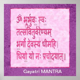 Esmero al mantra de GAYATRI Posters