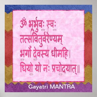 Esmero al mantra de GAYATRI Impresiones