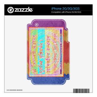 Esmero al mantra de MAHA-MRITUNJAY iPhone 2G Skin